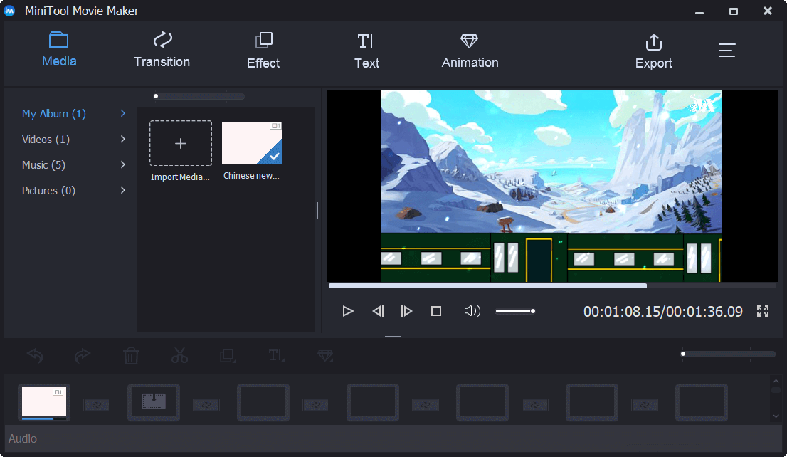 import video files to MiniTool Movie Maker